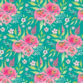 Fresh Summer - Rose / Mint Floral