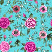 Watercolor Rose Garden Flower Girl