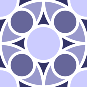 R4X circle mix : lavender indigo blue