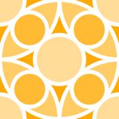 R4X circle mix : orange golden apricot saffron