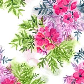 Dual Bouquets - a watercolor floral
