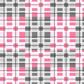 squares in rose and grey