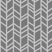 Crazy herringbone - greys