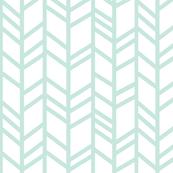 Crazy herringbone - mint on white