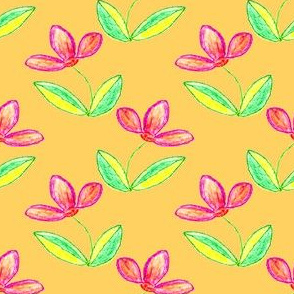 Flowers in Crayon