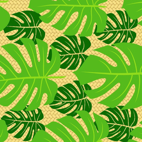Monstera Palm Weave - horizontal