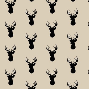 Deer - half scale - Black and Tan - Midnight Woodland - Kids Nursery