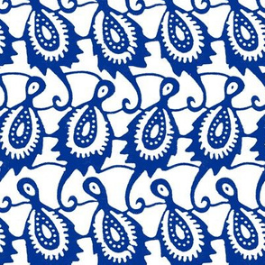 african kingfisher birds paisley // blue