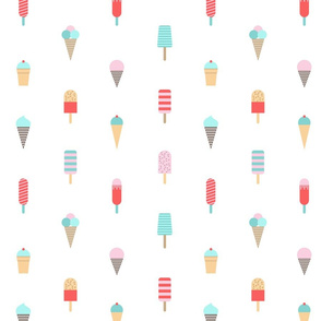 Cute ice cream print.