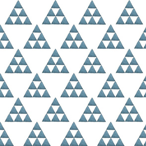 Watercolor Triangles Blue and White