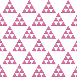 Watercolor Triangles Fushia and White