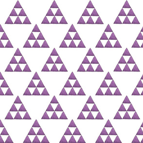 Watercolor Triangles Purple and White