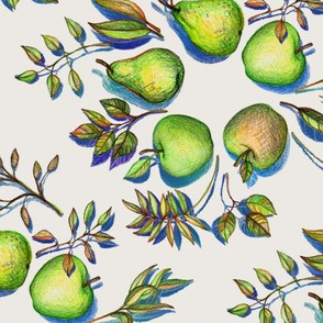 Summer's End - Apples and Pears - large version