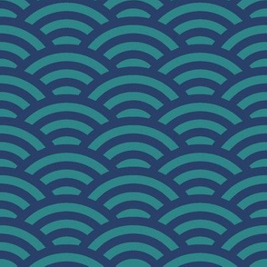 ripples in navy and teal