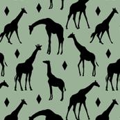 Geo Giraffes - Oasis Green