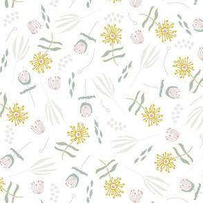 Whimsical Floral in White