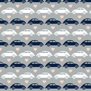 VW Beetle Love - Navy + Pink