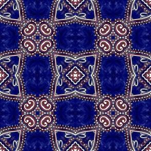 red, white & blue bunting V