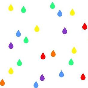 Clouds + Rain - Raindrops Rainbow