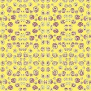 Seashell Mosaic on Sunny Yellow