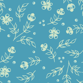 floral in aqua