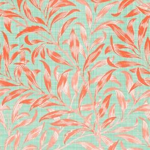Willow Bough ~  Mint and Coral ~ The William Morris Collection