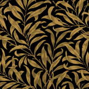 Willow Bough ~  Gilt on Black ~ The William Morris Collection