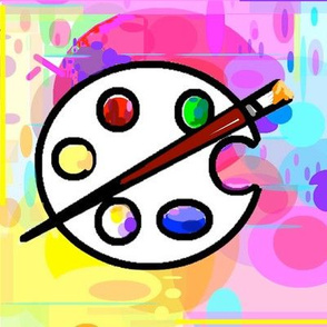 Art Palette Splatter