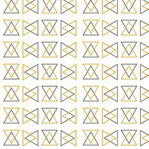 4in Triangular Gray and Yellow