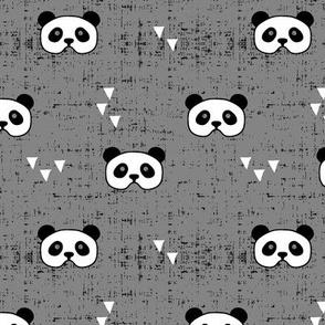 panda mask  || grey