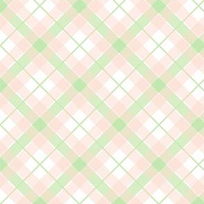 Picnic Plaid Soft Peach and Green