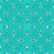 Geometric Lines Design Aqua