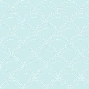 small wave stitch pale sky blue