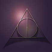 """8x8"""" - potter's deathly hallows"""