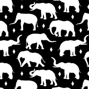 Geo Elephants I - Black