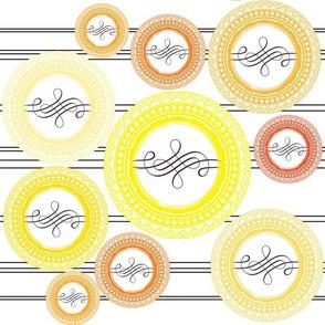 Flourish Circle Yellow
