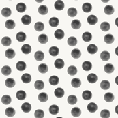 Watercolor dots - black, monochrome, geo || by sunny afternoon