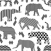Geo Pattern Elephants