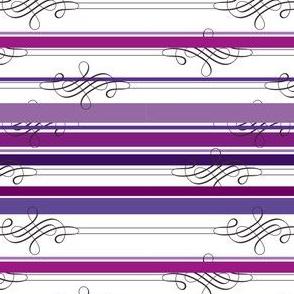 Flourish Purple Stripe