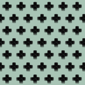 Swiss cross watercolor mint - gender neutral, modern || by sunny afternoon