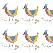 happy chicken bird
