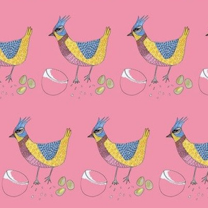 happy chicken bird rose