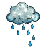 watercolour raincloud