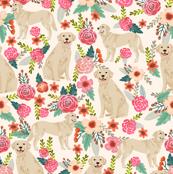 Golden Retriever, dog dogs, florals, flowers, cute nursery baby girls pastel mint all  over dog print