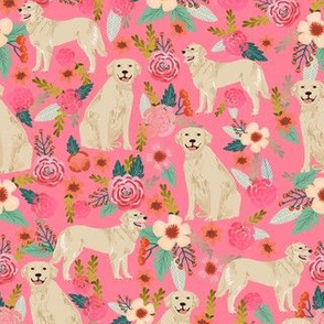Golden Retriever, dog dogs, florals, flowers, cute nursery baby girls pastel mint all  over dog print