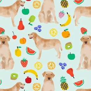 Labrador Retriever, yellow lab, lab dog, dogs, dog, fruit, summer, cute fun, food, novelty print