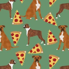 Boxers pizza pizza food boxer dog dogs cute food pets pet dog funny novelty dog print