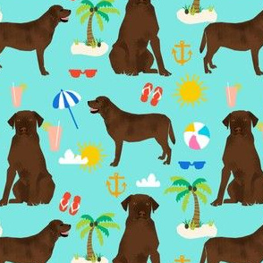 Chocolate Labrador retriever, chocolate lab, labrador, dog, beach, summer cute, pet dogs, beach fabric for lab owners, dog owners preppy dogs