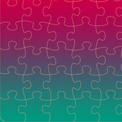 Jigsaw Puzzle Gradient Green Red Yellow