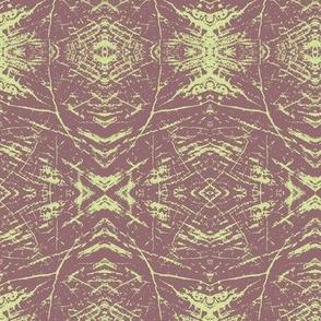 Tree Rings (Brown & Lime)
